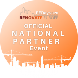Logo Renovate Europe, official National Partner Event